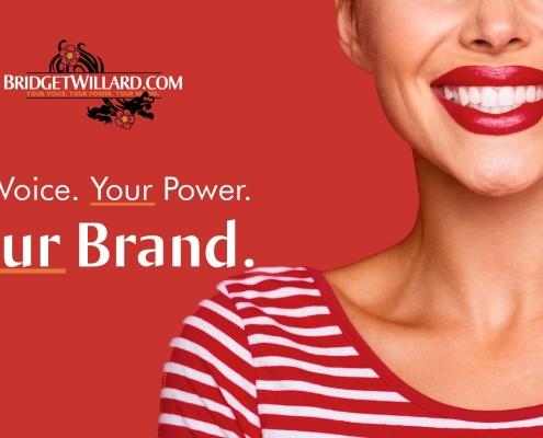 Bridget Willard dot com hero image design for her homepage