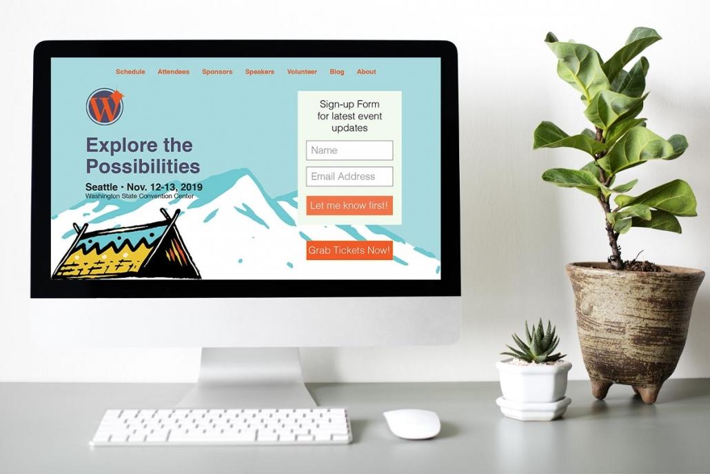WordCamp Seattle website mockup
