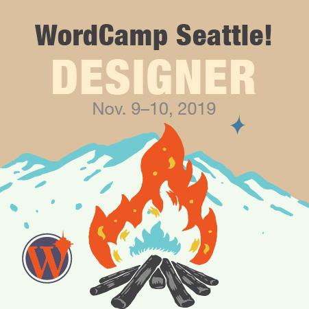 WordCamp Seattle Designer Badge