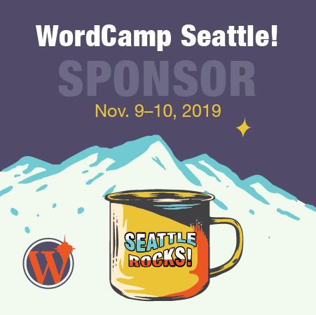 WordCamp Seattle Sponsor Badge